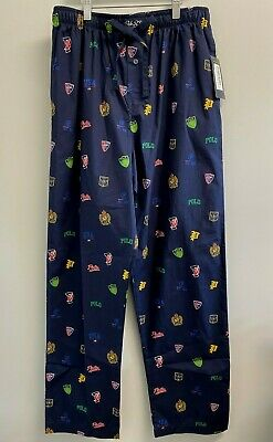 NEW Polo Ralph Lauren Mens M,L,XL Navy Crest P-wing Pajama Pants Lounge PJ