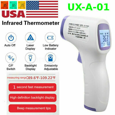 IR Medical Non-Contact Infrared Thermometer Gun LCD Digital Forehead Fever Baby
