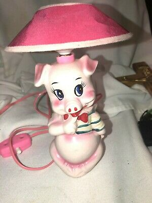 Porky Pig. Table Lamp  Novelty.   Works.   Very Cool