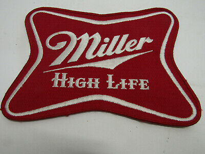 "Large Vintage Miller High Life Patch Sew On Patches 8""X6"" Beer Lite"