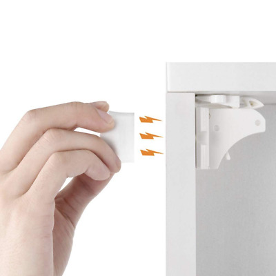Baby Children Proofing Adhesive Magnetic Drawers Cabinet Locks Child Safety 12Pc