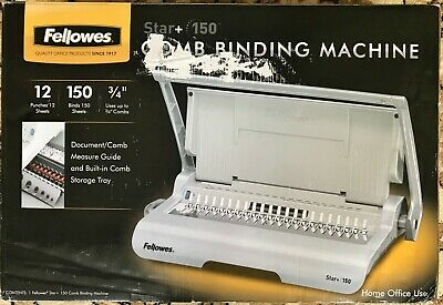 Fellowes Star+ 150 Manual Comb Binding Machine 50065