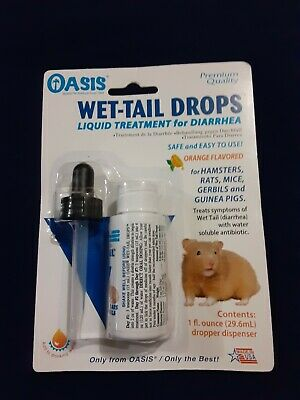 Oasis #80064 Wet Tail Drops- Liquid Treatment for Diarrhea, 1-Ounce Small animal
