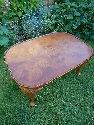 BURR FIGURED WALNUT COFFEE TABLE By Bevan & Funnell Excellent Condition