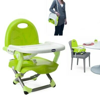 Portable Baby Dinning Highchair Booster Seat Travel Toddler Feeding Chair Lime
