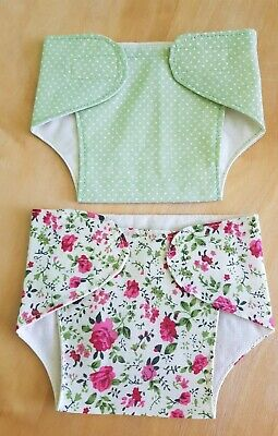 Set of 2 Fabric Nappies 14 - 16 inch Dolls My First Baby Annabell/Reborn (23)