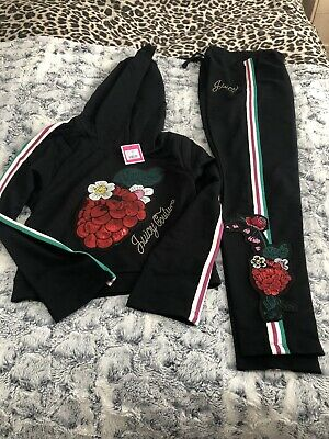New Juicy Couture Junior Girls Berry Tracksuit Size 14-15 YRS (Height 164-170)