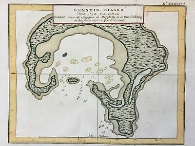 Christmas Island c1797 by James Cook Resolution Kiritimati Australia antique map