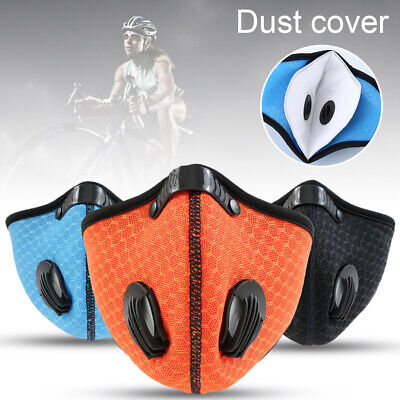 PM2.5 Carbon Anti Dust Pollution Valved Half Face Mouth Muffle Bike Ski Cycling