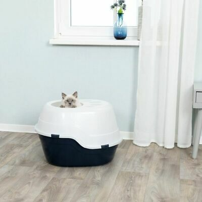 Cat Litter Box Top Entry Hooded High Sides Hygienic Removable Lid Quality Best