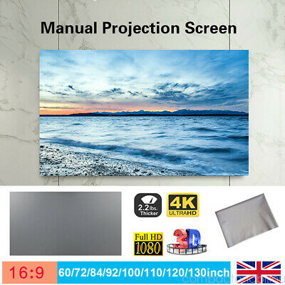 "60"" -120"" Projector Screen Curtain Anti-light Home Outdoor Office Portable 3D HD"