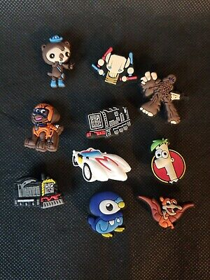 Lot Shoe Charms Croc Jibbitz Wristband Boys Pokemon Speed Racer Star Wars Thomas
