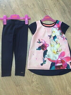 Ted Baker Girls Leggings And Top Set Age 4
