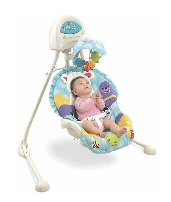 Fisher-Price Precious Planet Cradle 'n Swing in Cream/Blue