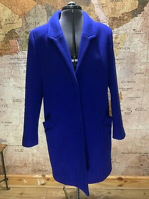 Gorgeous French Connection Bright/Electric Blue Wool Coat UK14