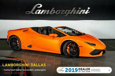 2016 Lamborghini Huracan LP610-4 Spyder  PEARL COLOR+NAV+RR CAM+HEATED SEATS+LIFT SYS+CARBON CERAMIC BRAKES+SPORT EXHAUST