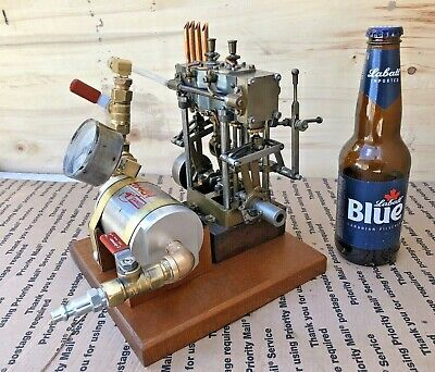 Stuart Twin Cylinder Live Steam engine Model Launch Reversible Restored Working