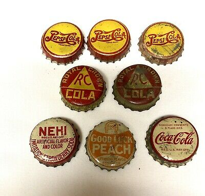 Vintage Soda Bottle Caps With Cork Lining