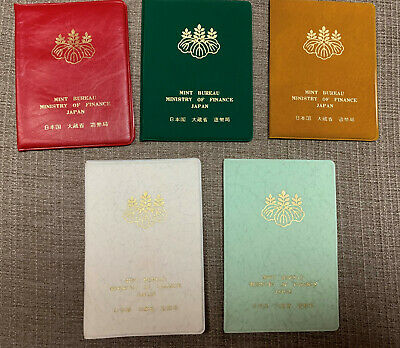 Lot1 of JAPAN Coin Sets from Mint 1979, 1980, 1981, 1982 and 1983