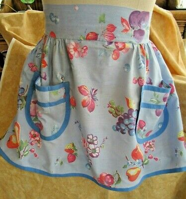 Vintage Fruit and Flower 1/2 Apron