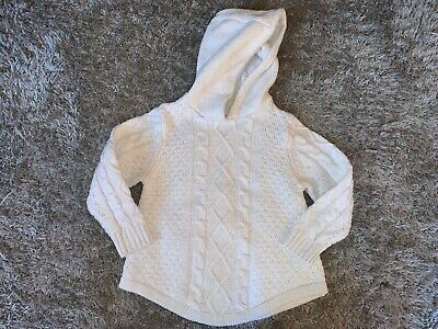 Baby Girls Clothes cream hooded jumper glitter detail age 18-24 months