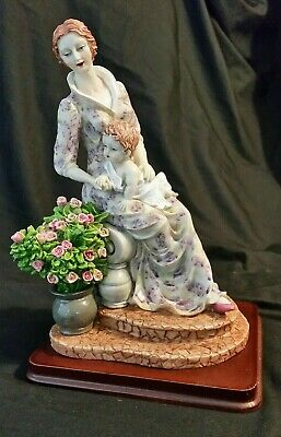 "Giuseppe Armani Style Figurine Maternity with Flowers (11"" tall)"