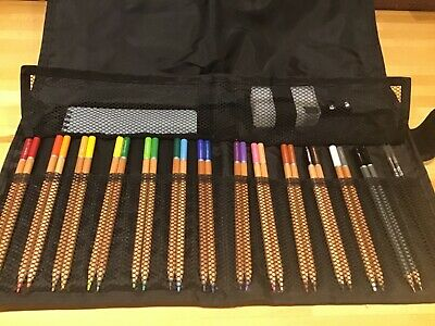 Whsmith Watercolour 26 Pencil Set With Sketch Book, Brushes, Sharpener In Case