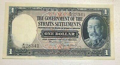 Straits Settlements,1931 1 Dollar.George V Portrait.