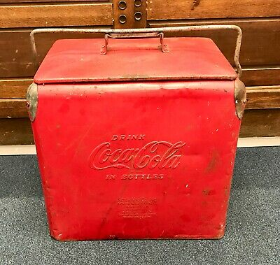 COCA-COLA Ice Chest 1950's - COOLER w/ Bottle Opener