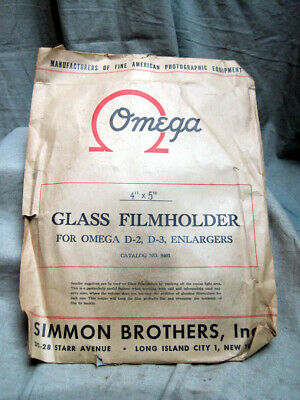 Omega 4x5 Glass Negative Carrier for D-2 and D-3 Enlargers