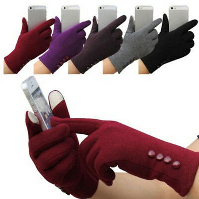 New Womens Touch Screen Gloves Winter Sport Outdoor Warm Leather Gloves 2 HsTEUS