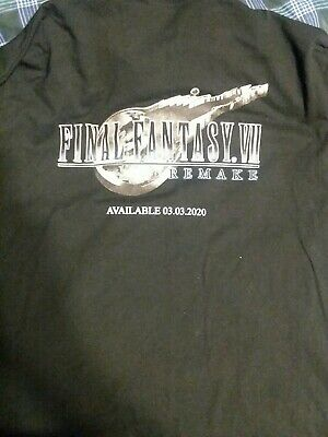 Final Fantasy VII 7 Remake Promotional XL collared shirt video game collectible