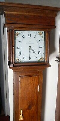 "Antique Oak "" Grinstead ""  Longcase / Grandfather Clock Standing  84"" High"