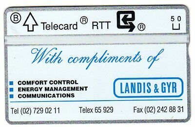 Landis & Gyr With Compliments Mint Belgium Phonecard (2#)  Early Issue Rare
