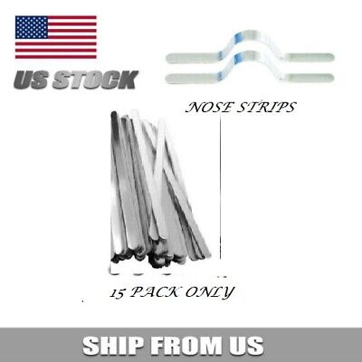 Face Mask Metal Nose Strip - TEN  Nose Strips for Masks,  MADE IN THE USA!