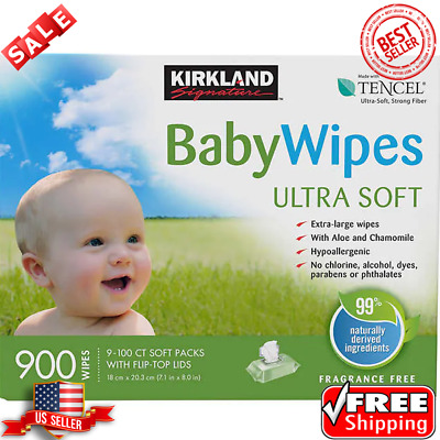 Kirkland Signature Baby Wipes 900-count Extra-Large Wipes Aloe And Chamomile