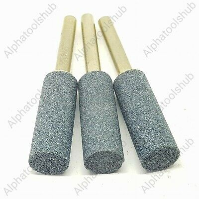 x3 Blue Stone Dremel Abrasive Rotary Bits 1/4 Shank Polishing Sharpening 14mm PS
