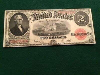 1917 $2.00 Large Size Legal Tender Red Seal US note EX Fine cond.