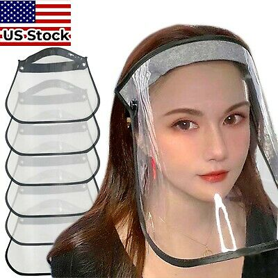 Full Face Shield - Safety Reusable Washable Protection Anti-Splash - US STOCK
