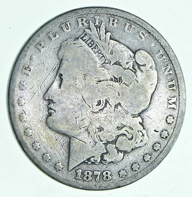 Early 1878 Morgan Silver Dollar - 90% US Coin *780
