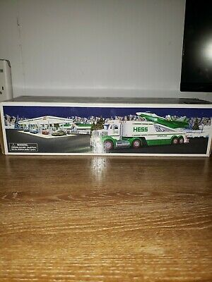 Hess toy truck with jet 2010 never been out of box