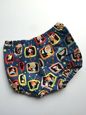 MishElla Nappy Cover RETRO TV sizes from 0-3 months up to 18-24 months