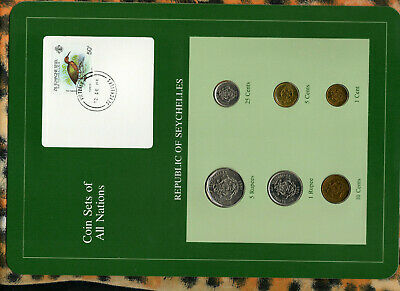 Coin Sets of All Nations Seychelles all 1982 UNC Bird stamp