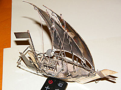 """Vintage Sterling Silver Amoco Ship  """"Awesome"""""""