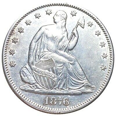 1876-S Seated Liberty Half Dollar Choice HIGH GRADE Silver #OR12