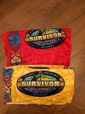 2 CB Survivor Buffs All Stars (2004) Season 8 New w/out tags Red & Yellow Tribes