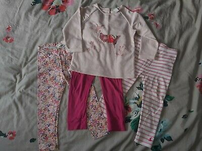 Girls 2-3 Joules And Monsoon Leggings & Sweater Bundle