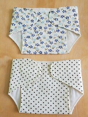 Set of 2 Fabric Nappies 14 - 16 inch Dolls My First Baby Annabell/Reborn (24)