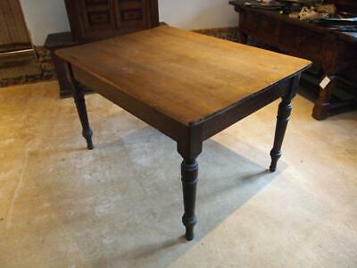 Table scrub top Pine refectory dining table c1880 99p start no reserve