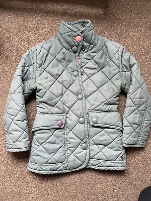 Little Joule Quilted Coat Green 3yrs